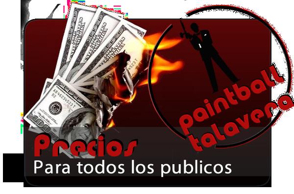 Banner Precios Paintball Talavera